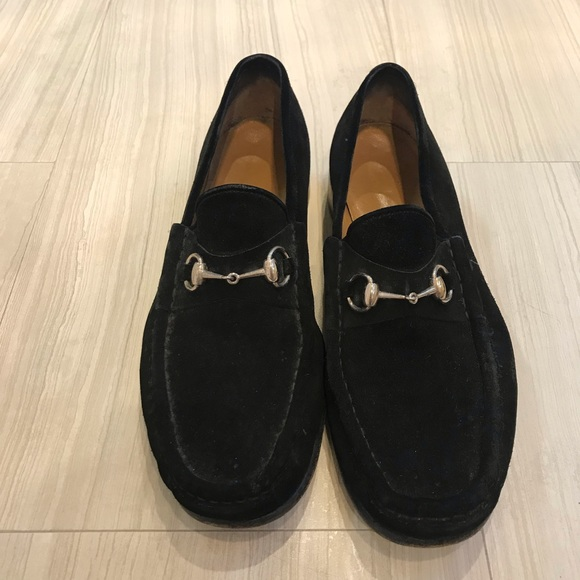 45455a2d07595 Gucci Shoes | Mens Black Suede Loafers Size 12 | Poshmark